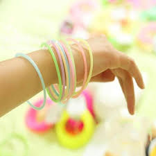<b>Candy Fluorescent Color</b> Luminous Silicone Bracelet Hair Rope-buy ...