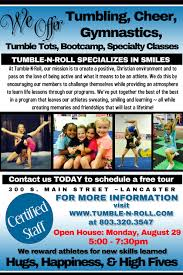 open house flyer tumble n roll special events