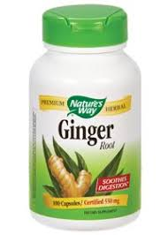 Ginger Root - Soothes Digestion - 550 <b>MG</b> (100 Capsules) | Natural ...