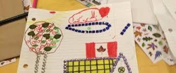 مونتريال -  أطفال اللاجئين السوريين يعبرون عن حبهم لوطنهم الثاني
