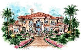 House Plan at FamilyHomePlans comFlorida Mediterranean House Plan Elevation