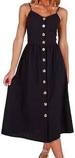 Elogoog <b>Hot Sale</b> Women's Strap Solid Color Button Down Flowy ...