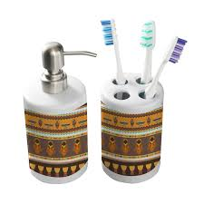 masks bathroom accessories set personalized potty: african masks bathroom accessories set ceramic potty training