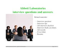 abbott laboratories interview questions and answers documents