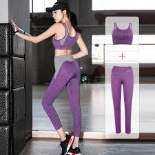 2019 <b>Women'S Yoga Set</b> Simple <b>Solid</b> Sweat Outdoor Sport Wear ...