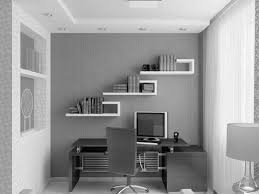 fascinating white and grey themes small home office ideas added white wall bookshelves over custom computer office desk also built cabinets designs adorable small black computer