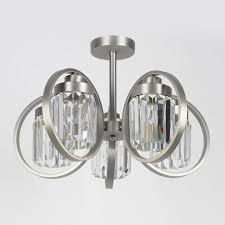 Потолочная <b>люстра Eurosvet 10095/5 сатин-никель/прозрачный</b> ...