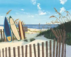 ocean beach surfboard sunbathing painting decorative painting canvas art home office living room decor free shipping beach office decor