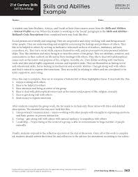 resume skills and abilities example  resumes examples skills    skills and abilities example