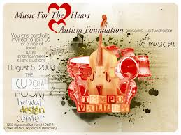 want more donations the shape of your flyer matters wild w music heart autism flyer