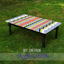 paint a chevron coffee table with decoart_inc savedbyloves chevron painted furniture