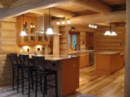 kitchen log cabin kitchens design ideas black wooden cabi and island with white countertop on small cabin lighting ideas
