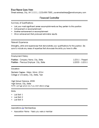 financial controller professional resume template
