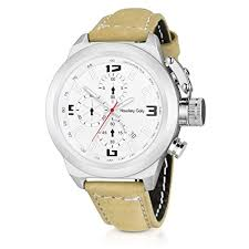 <b>Fashion Mens</b> Sport Watch with <b>30M Waterproof</b>, Genuine Leather ...
