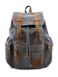 Gearonic - <b>Men's Outdoor Sport</b> Vintage <b>Canvas</b> Military Backpack ...