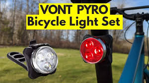 Affordable <b>Bicycle Lights</b> - VONT PYRO Rechargeable <b>LED</b> Bike ...