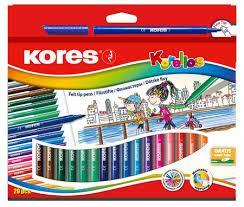 <b>Фломастеры Kores</b> вентилируемый колпачок <b>20 цветов</b>, 29012 ...