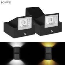 DONWEI <b>6W LED Wall</b> Light Outdoor Waterproof IP65 Modern ...