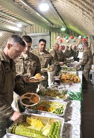 u s department of defense photo essay u s service members work through the food line during the christmas holiday party on kandahar airfield