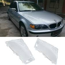 Liplasting Pair <b>Left & Right Front</b> Headlight Lens Lamp Cover for ...