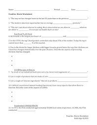 food inc movie questions worksheet   worksheetsfood inc movie worksheet prestigebux