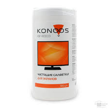 <b>Konoos KBF-100ECO Салфетки для</b> ЖК-экранов в банке, 100 шт ...