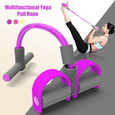Multi Function <b>Tension</b> Rope Foot <b>Pedal</b> Fitness Resistance Bands ...