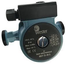Циркуляционный <b>насос Wester WCP 25-40G</b> (180 мм) (65 Вт)