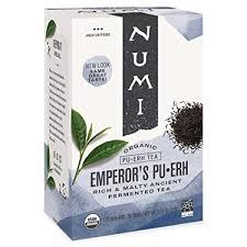 Numi Organic Tea Emperor's Pu-erh, Black Tea, 16 ... - Amazon.com