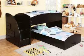 amazing images of bedroom design and decoration using black bunk bed with staircase inspiring picture amazing twin bunk bed