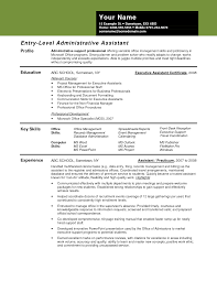 resume examples executive administrative assistant cipanewsletter resume examples for administrative assistant entry level best