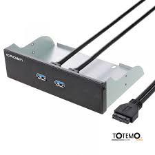 панель с двумя портами USB <b>CROWN</b> MICRO <b>CMU3</b>-<b>20</b>