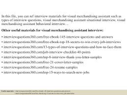 Resume Visual Merchandiser Example Virtren Com