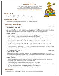 sample resume template for elementary education teacher page sample resume template for elementary education teacher 1 page bndi7pmd