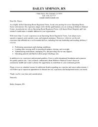 best operating room registered nurse cover letter examples    edit