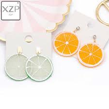 <b>XZP</b> Fashion Craft Glitter Hearth Star Drop <b>Earrings</b> Resin earring ...
