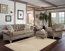 Upholstery Living Room Furniture Sublime Grey Vinyl Tufted Sofa With Nailhead Trim And Square