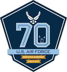 home 70th air force birthday logo
