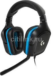 Купить Гарнитура <b>LOGITECH G432</b> Leatherette, черный / синий в ...