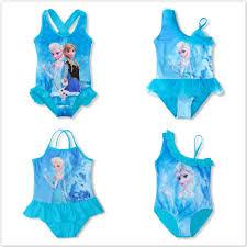 1PCS <b>Girls Swimwear</b> Bikini Swimsuit <b>Anna Elsa</b> Princess Dress ...