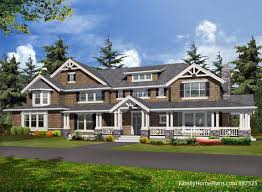 Podcast House Plans OnlineLarge home   expansive front porch plan from familyhomeplans com
