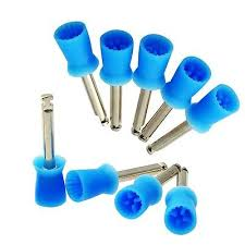 100 PCS <b>Dental</b> Polishing Polish Prophy Cup <b>Brush</b> 4 Webbed Blue ...