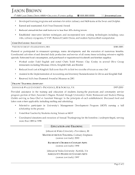 culinary arts resume examples