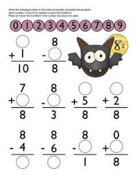 Halloween Math Pages For First Grade - Halloween ...Math Worksheet : Halloween Addition And Subtraction Worksheets For First Grade Halloween Math Pages For First