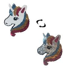 NEW Rainbow <b>Unicorn</b> Reverse <b>Sequin</b> Sew On <b>Patches</b> for clothes ...