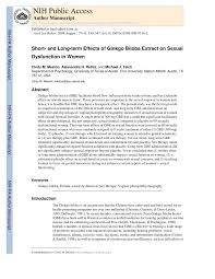 (PDF) Short- and Long-term Effects of <b>Ginkgo Biloba</b> Extract on ...