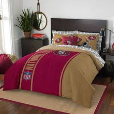 san francisco 49ers the northwest company soft cozy 7 piece full bed in a bed in office