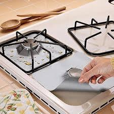 4pcs/set <b>Gas Stove Cooker Protectors</b> Cover Liner Clean Mat Pad ...