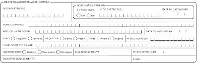 Identificação do(a) Ususário SUS