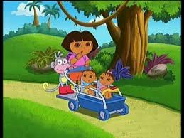 Dora With Twin Kids